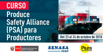 [Curso] Produce Safety Alliance (PSA) para Productores