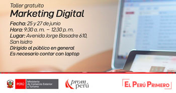 (Taller Gratuito) PROMPERÚ: Marketing digital