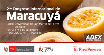 PROMPERÚ: 2do Congreso Internacional de Maracuyá