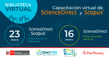 (Capacitación Virtual) CONCYTEC: El uso de las bases de datos ScienceDirect y Scopus