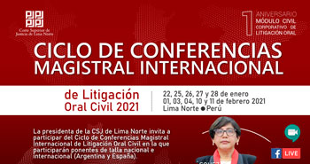 Ciclo de Conferencias Magistral Internacional de Litigación Oral 2021