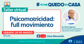 Taller Virtual Gratuito: Psicomotricidad: full movimiento