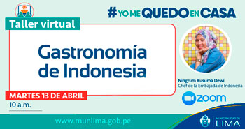 Taller Virtual: Gastronomía de Indonesia