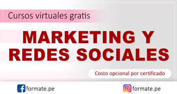 Cursos virtuales gratis de Marketing y Redes Sociales